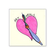 """Cute Heals Square Sticker 3"""" x 3"""""""