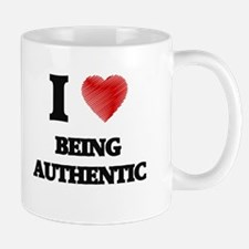 I Love BEING AUTHENTIC Mugs
