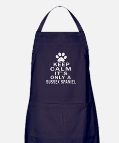Keep Calm And Sussex Spaniel Apron (dark)