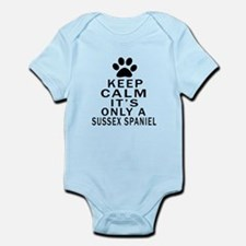 Keep Calm And Sussex Spaniel Infant Bodysuit