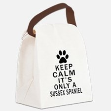 Keep Calm And Sussex Spaniel Canvas Lunch Bag