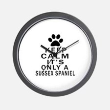 Keep Calm And Sussex Spaniel Wall Clock