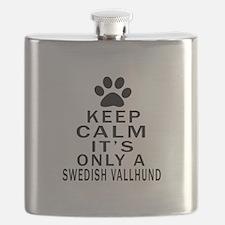 Keep Calm And Swedish Vallhund Flask