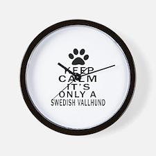 Keep Calm And Swedish Vallhund Wall Clock