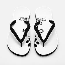 Keep Calm And Standard Schnauzer Flip Flops