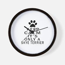 Keep Calm And Skye Terrier Wall Clock