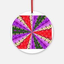 Lacey Kaleidoscope Round Ornament