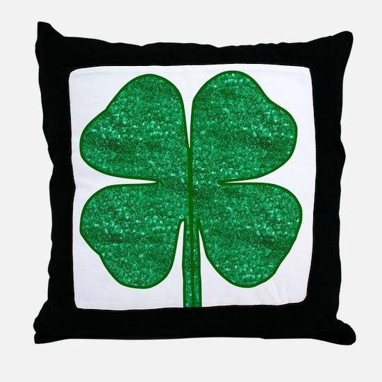 Unique 4 leaf clover Throw Pillow