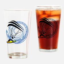 Cute Kiteboard Drinking Glass