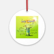 Blue Lagoon (Green) Round Ornament