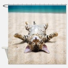 BEACH CAT Shower Curtain