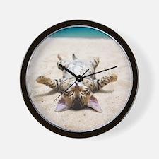 BEACH CAT Wall Clock