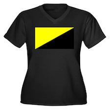 Anarcho-Capitalist Flag Women's Plus Size V-Neck D