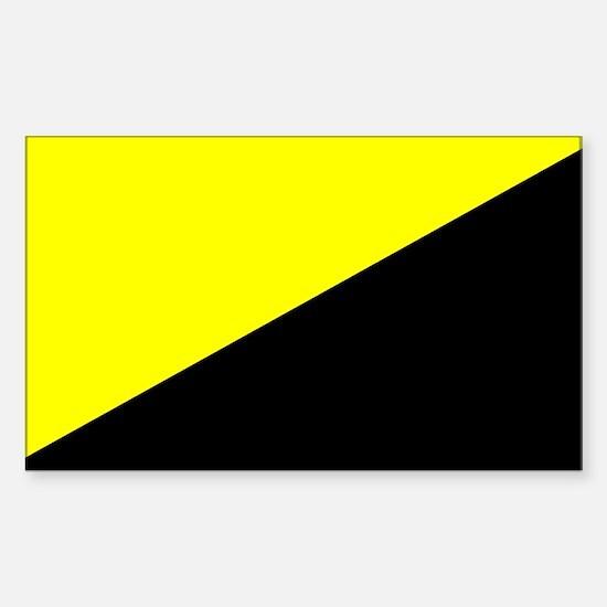 Anarcho-Capitalist Flag Rectangle Decal