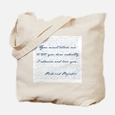 Cute Pride and prejudice quotes Tote Bag