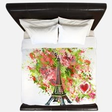 eiffel tower got heart King Duvet