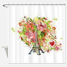 eiffel tower got heart Shower Curtain