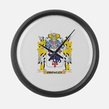 Crowley Coat of Arms - Family Cre Large Wall Clock