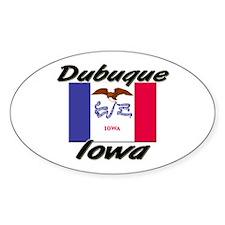 Dubuque Iowa Oval Decal