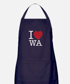 I Love WA Washington Apron (dark)