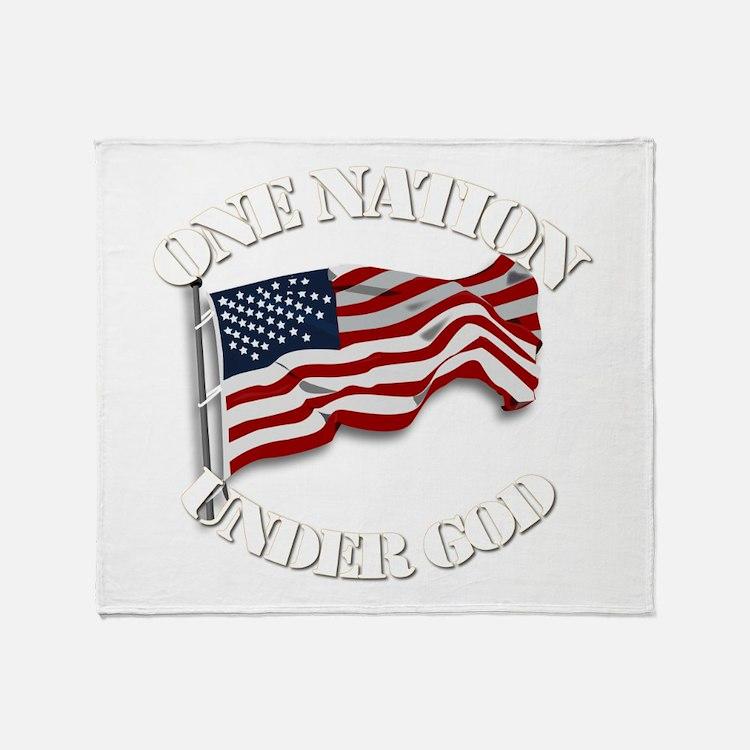 On Nation Under God Throw Blanket