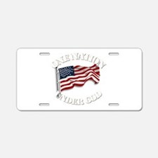 On Nation Under God Aluminum License Plate