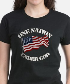 On Nation Under God Tee