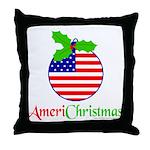 AMERICHRISTMAS Throw Pillow