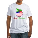 AMERICHRISTMAS Fitted T-Shirt