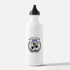 Greece Soccer Fan Water Bottle