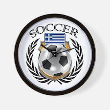 Greece Soccer Fan Wall Clock