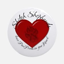 Shiloh  PawPrints Ornament (Round)