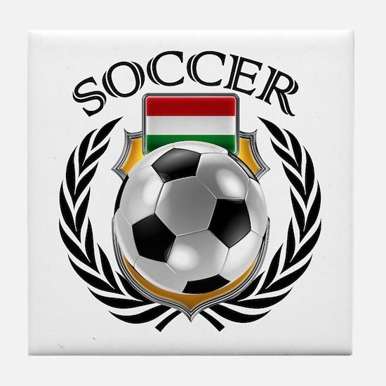 Hungary Soccer Fan Tile Coaster
