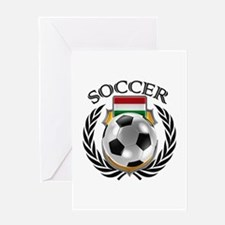 Hungary Soccer Fan Greeting Cards