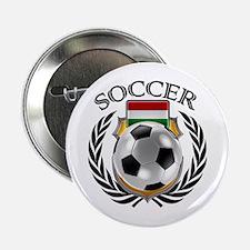 "Hungary Soccer Fan 2.25"" Button"