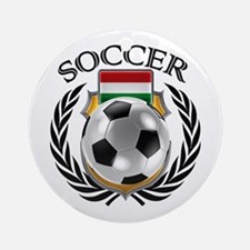 Hungary Soccer Fan Round Ornament
