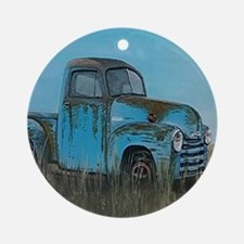 'Good ole' days and Chevorlets' Round Ornament