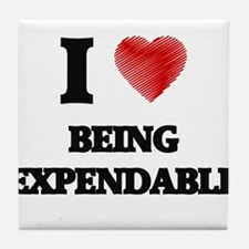 Being Expendable Tile Coaster