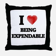 Being Expendable Throw Pillow