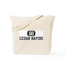 GO CEDAR RAPIDS Tote Bag