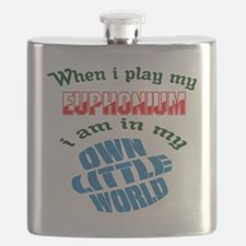 When i play my Euphonium I'm in my own littl Flask