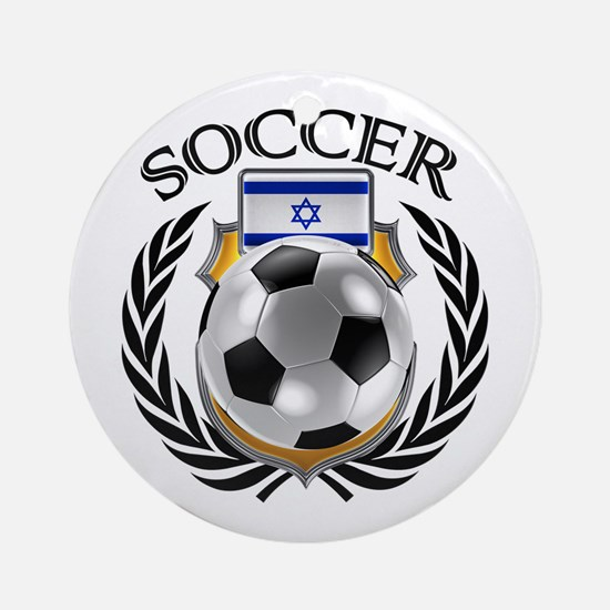 Israel Soccer Fan Round Ornament