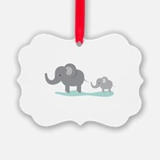 Elephant And Cub Ornament