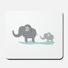 Elephant And Cub Mousepad