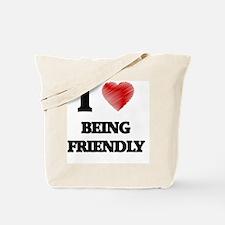 Being Friendly Tote Bag