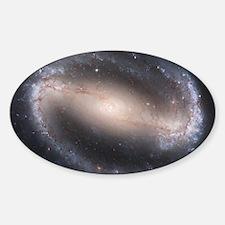 Barred Spiral Galaxy (NGC 1300) Sticker (Oval)