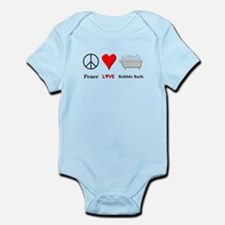 Peace Love Bubble Bath Infant Bodysuit
