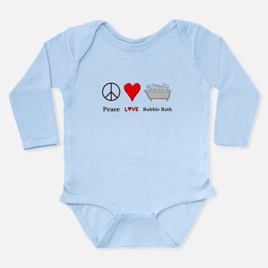 Peace Love Bubble Bath Long Sleeve Infant Bodysuit