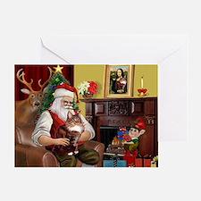 Santa's Maine Coon Greeting Card
