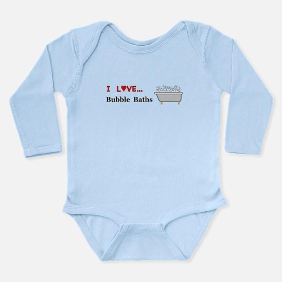 Love Bubble Baths Long Sleeve Infant Bodysuit